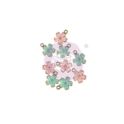 SUGAR COOKIE CHRISTMAS KOLLEKCIÓ ENAMEL CHARMS – FLOWER – 9 db
