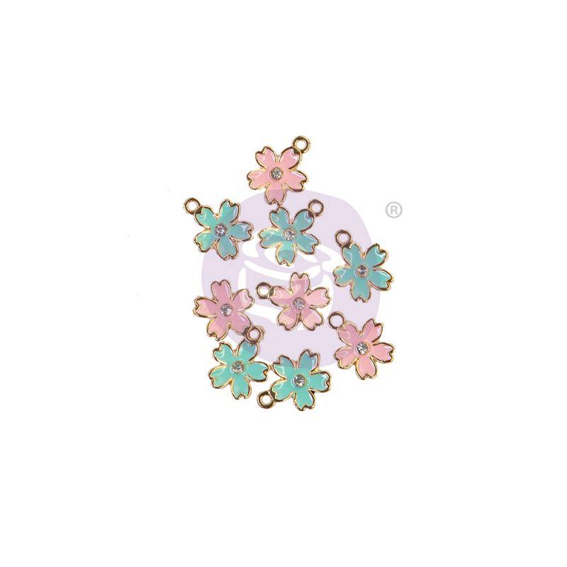 SUGAR COOKIE CHRISTMAS KOLLEKCIÓ ENAMEL CHARMS – FLOWER – 9 db