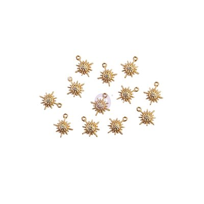 SUGAR COOKIE CHRISTMAS KOLLEKCIÓ METAL CHARMS – SNOWFLAKES – 12 db