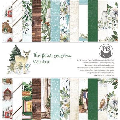 """The Four Seasons - Winter - 12""""-es maxi kollekció (12 db 2 oldalas papír + 2 db kivágóív)"""