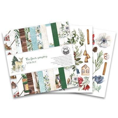 """The Four Seasons - Winter 6""""-es kollekció (24 db 2 oldalas papír + 2 db kivágóív)"""