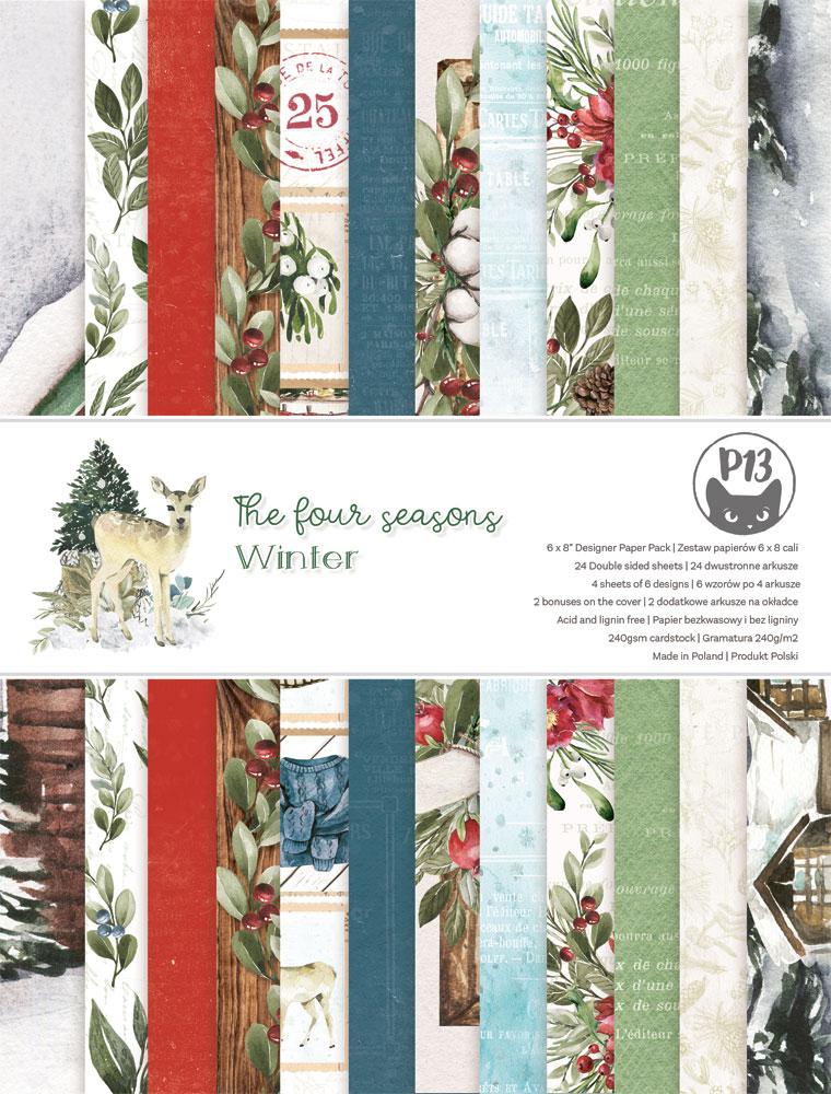"""The Four Seasons - Winter 6x8""""-es kollekció (24 db 2 oldalas papír + 2 db kivágóív)"""