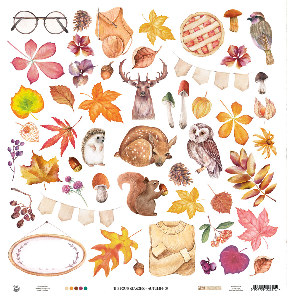 """The Four Seasons - Autumn kivágóív 12x12"""""""