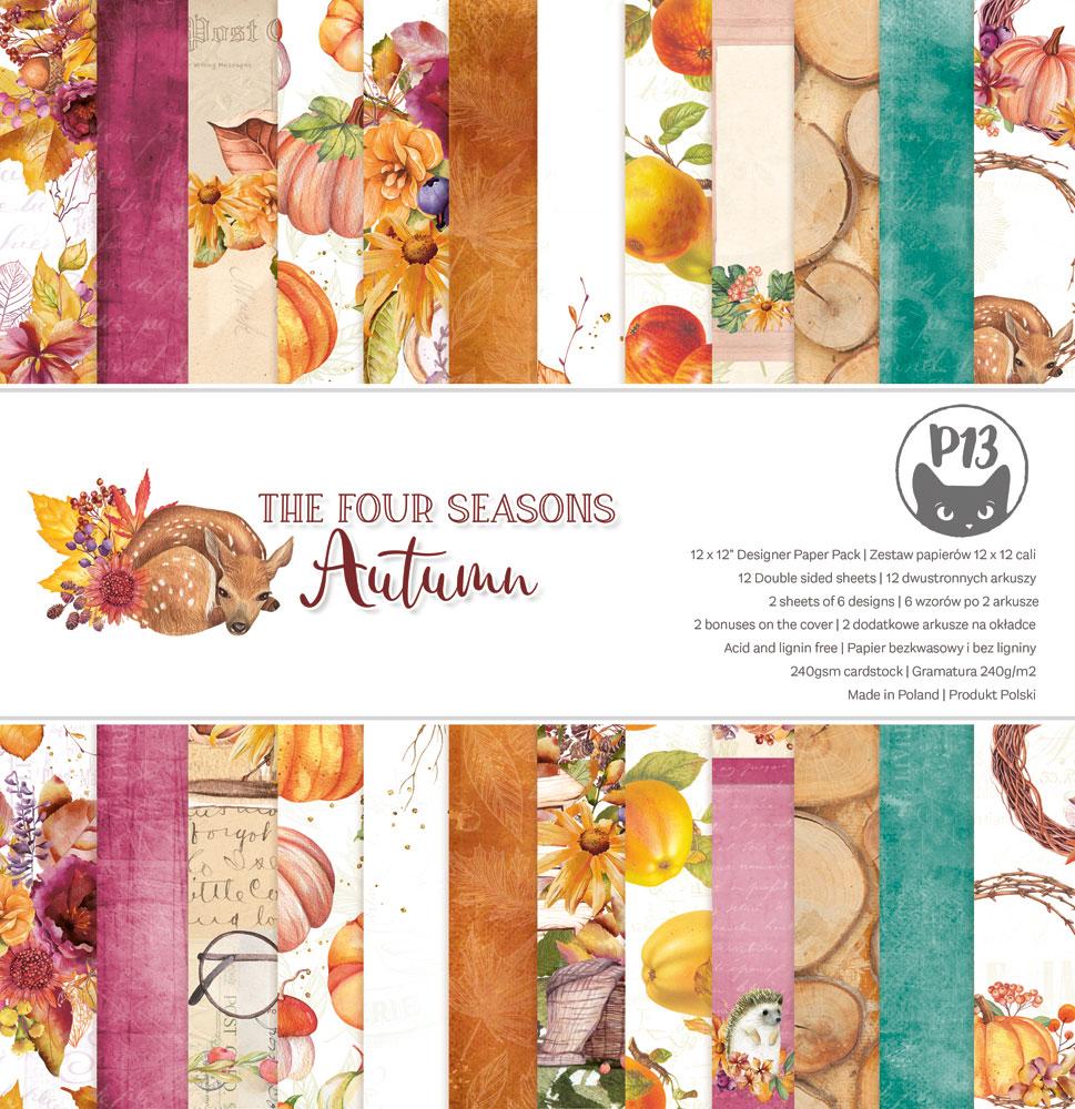 """The Four Seasons - Autumn - 12""""-es maxi kollekció (12 db 2 oldalas papír + 2 db kivágóív)"""