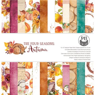 """The Four Seasons - Autumn - 12""""-es mini kollekció (6 db 2 oldalas papír + 1 db kivágóív)"""