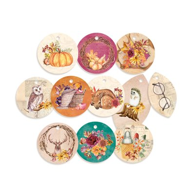 The Four Seasons - Autumn - dekorációs címkék 01 - 11 db