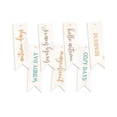 The Four Seasons - Autumn - dekorációs címkék 02 - 7 db