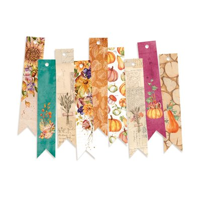 The Four Seasons - Autumn - dekorációs címkék 03 - 9 db