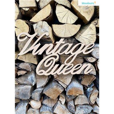 Vintage Queen felirat