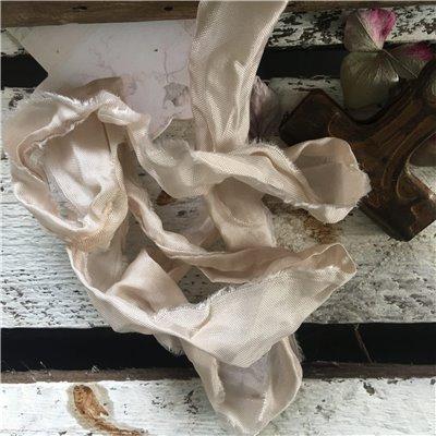 Old Fashion szatén szalag - ivory/ekrü