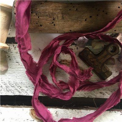 Old Fashion szatén szalag - dark grape/mély szőlő