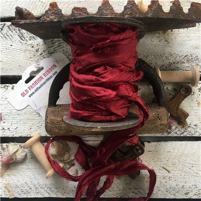 Old Fashion szatén szalag - christmas burgundy/karácsonyi burgundi