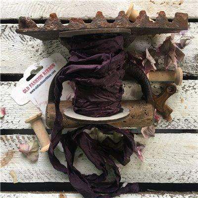 Old Fashion szatén szalag - plum/szilva