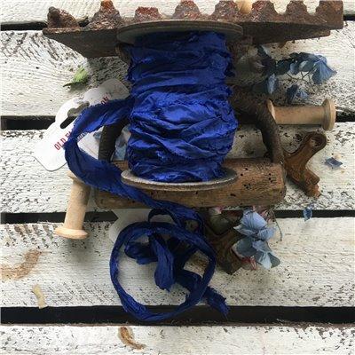 Old Fashion szatén szalag - cobalt/kobaltkék