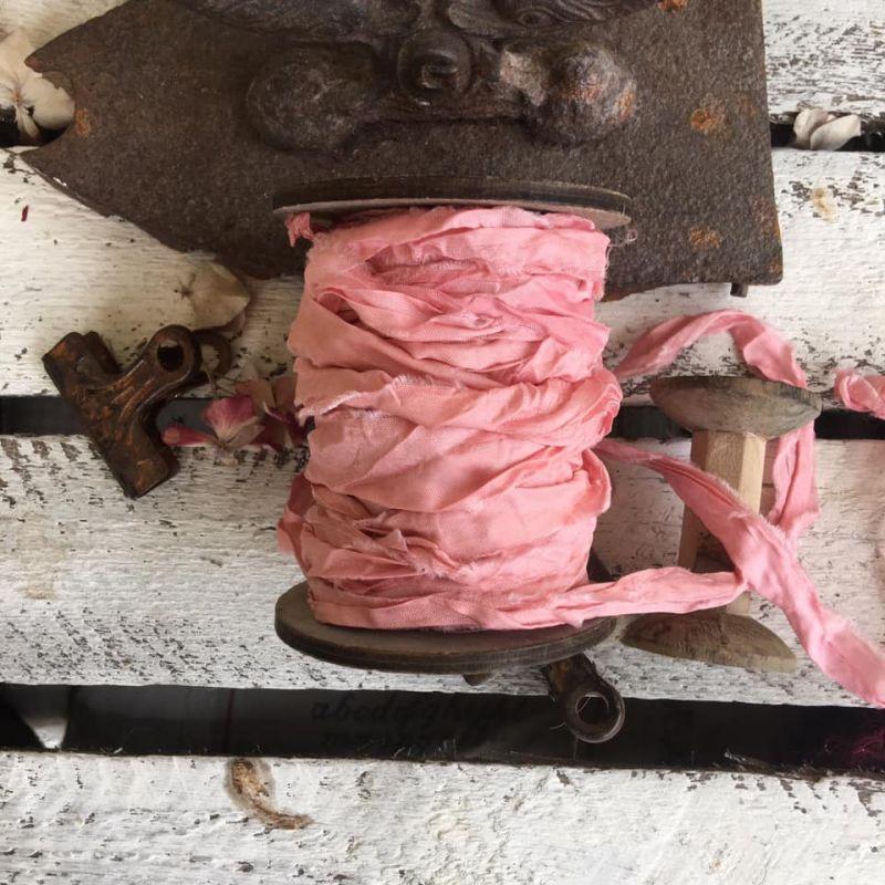 Old Fashion szatén szalag - powder pink/púder rózsaszín