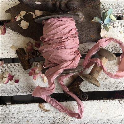 Old Fashion szatén szalag - dark powder pink/sötét púder
