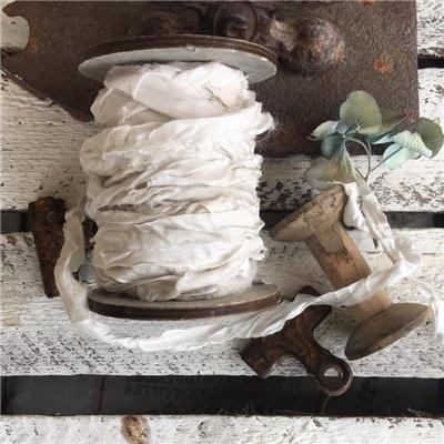 Old Fashion szatén szalag - old white/ófehér