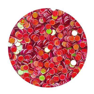 Nuvo pure sheen confetti - Fiery Pheonix circles