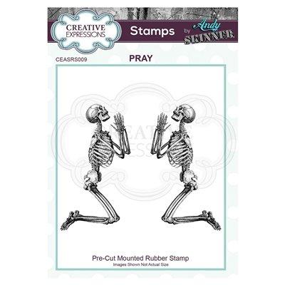 Andy Skinner gumibélyegző - Pray