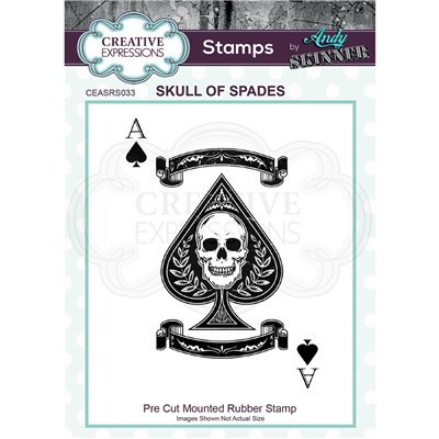 Andy Skinner gumibélyegző - Skull of spades