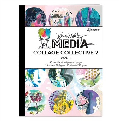 Dina Wakley Media Mixed Media Collage Collective des.2. vol.1.