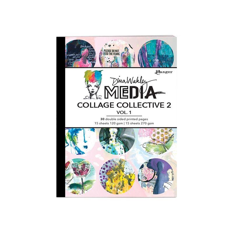 Dina Wakley Media Mixed Media Collage Collective des.2. vol.1.