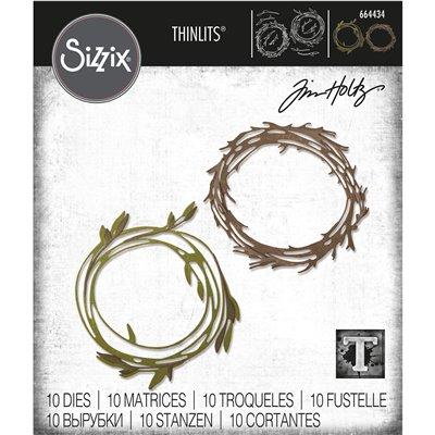 Sizzix Thinlits Vágókés Szett - Fanky wreath
