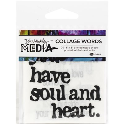 "Dina Wakley Media Collage Word Pack 3""x3"""