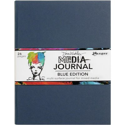 "Dina Wakley Media Journal - Blue (8""x10"")"
