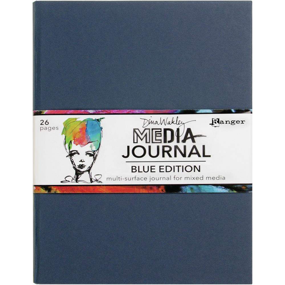 "Dina Wakley Media Journal - Blue (8""x10"")"