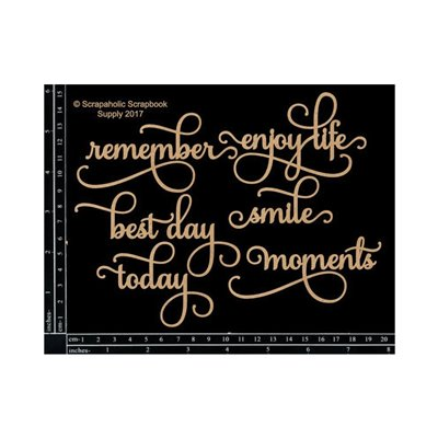 Life Moments Words chipboard