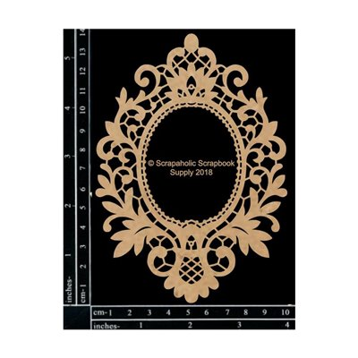 Vintage Lace Frame chipboard