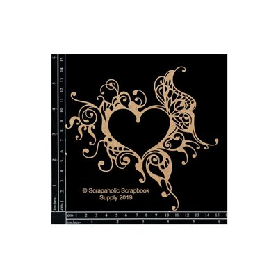 Gothic Heart Frame chipboard