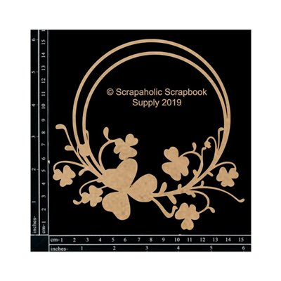 Shamrock Frame chipboard