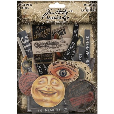 Tim Holtz - Idea-Ology Chipboard Baseboards - Halloween