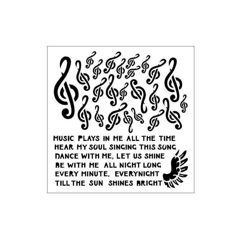 Treble clefs stencil