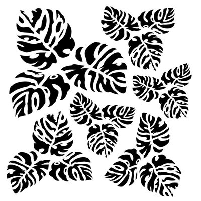 Meditarenian tropics 6x6-os stencil, BELLA