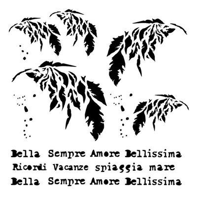 Sempre 6x6-os stencil, BELLA