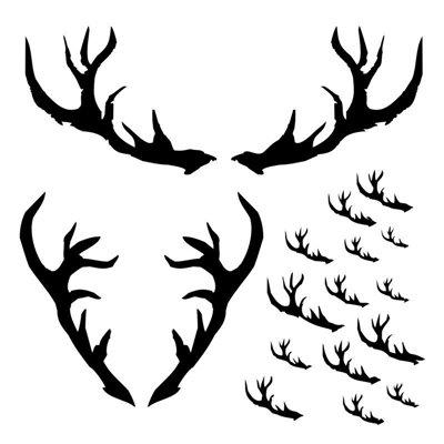 Antlers 6x6-os stencil, DREAMLAND
