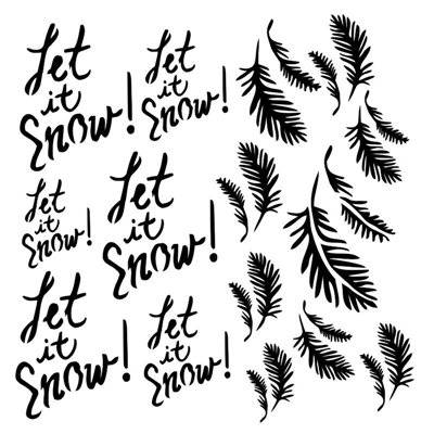 Let it snow 6x6-os stencil, DREAMLAND
