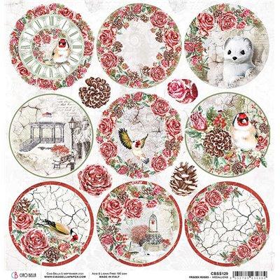 """Frozen Roses Medallions 12""""-es papír"""
