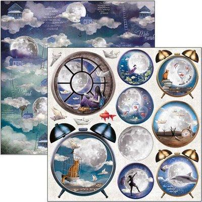 "Moon & Me Alarm Clock 12""-es papír"