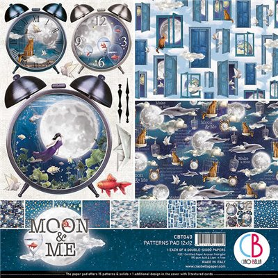 "Moon & Me Patterns Pad 12""x12"""