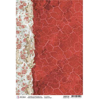 Rizspapír A4 - Ancient Red