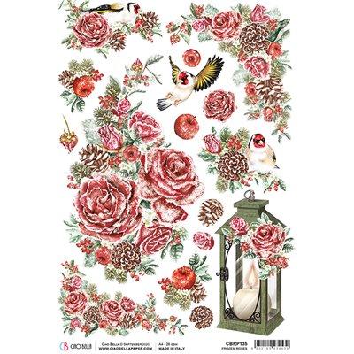 Rizspapír A4 - Frozen Roses