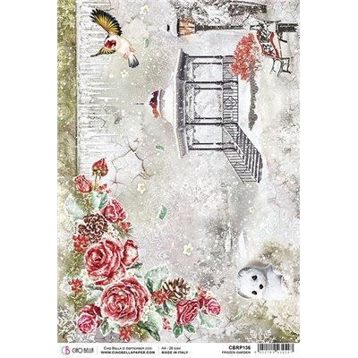 Rizspapír A4 - Frozen Garden