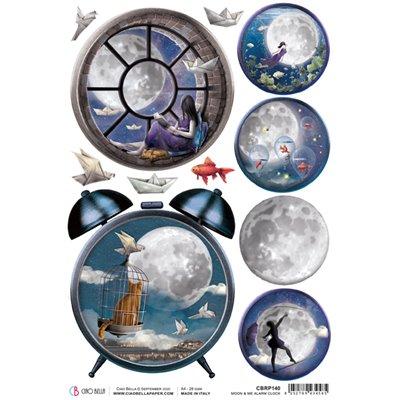 Rizspapír A4 - Moon & Me Alarm Clock