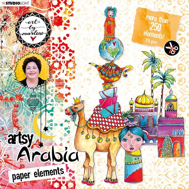 Art by Marlene Artsy Arabia kívágóív szett des.1