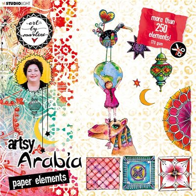 Art by Marlene Artsy Arabia kívágóív szett des.2
