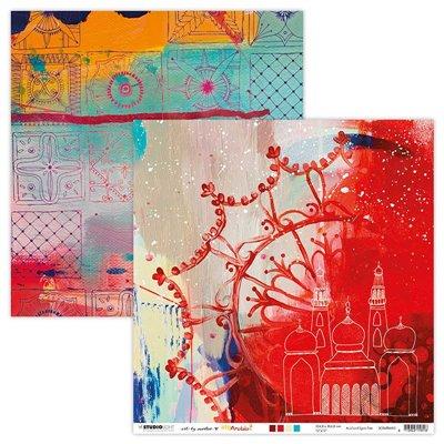Art by Marlene Scrap Artsy Arabia des.3 - 12x12-es scrapbook papír